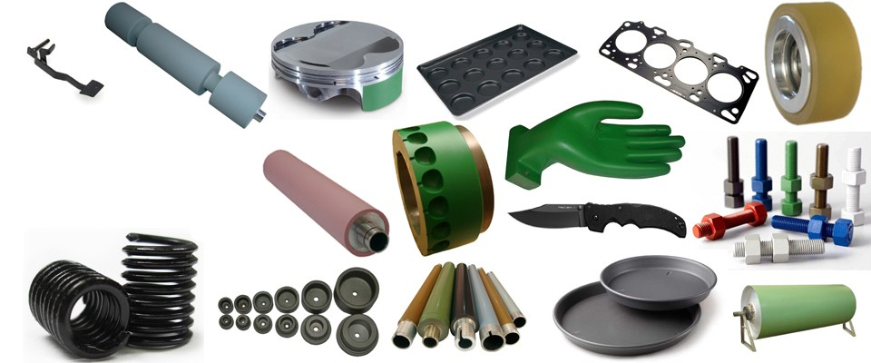 Industrial solutionsWe provide industrial coating services to various industries like machinery, food, textile and automotive.